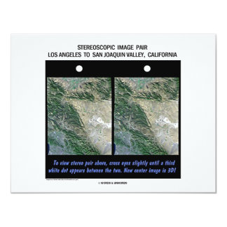 Los Angeles To San Joaquin Valley, California 4.25x5.5 Paper Invitation Card