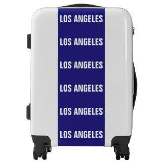 LOS ANGELES, Typo white Luggage