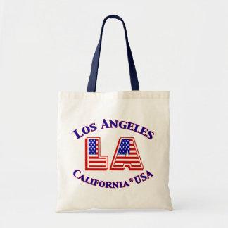 Los Angeles USA Patriotic Canvas Tote