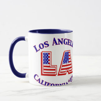 Los Angeles USA Patriotic Logo Coffee Mug