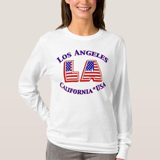 Los Angeles USA Patriotic Logo Shirt