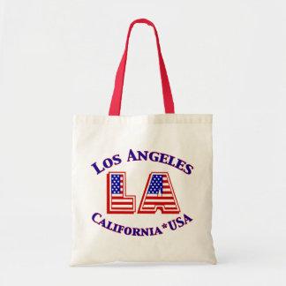 Los Angeles USA Patriotic Logo Tote Bag