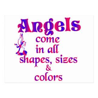 Los ángeles vienen en todas las formas tamaños y tarjeta postal