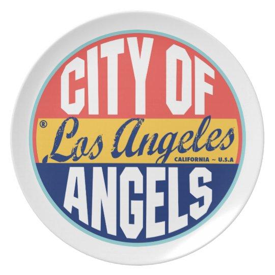 Los Angeles Vintage Label Dinner Plate