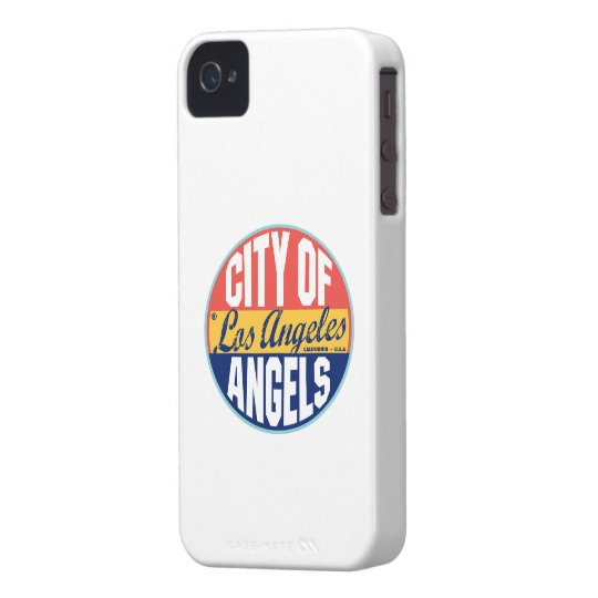Los Angeles Vintage Label iPhone 4 Cover