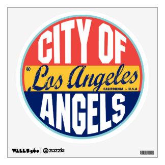 Los Angeles Vintage Label Wall Sticker