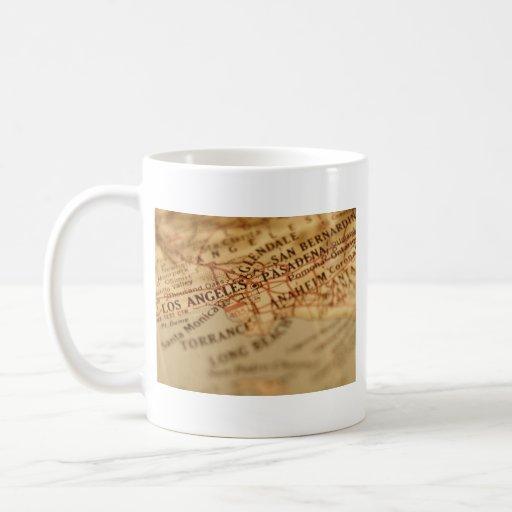 LOS ANGELES Vintage Map Mug