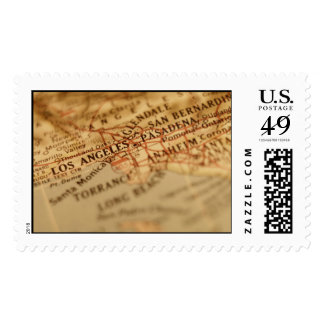 LOS ANGELES Vintage Map Postage Stamps (Large)