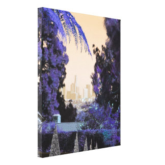 Los Angeles Vintage Style Decorative Photo Gifts Canvas Print