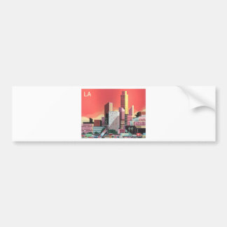 Los Angeles Vintage Travel Bumper Sticker