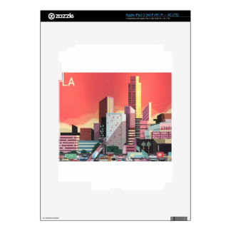 Los Angeles Vintage Travel Decal For iPad 3
