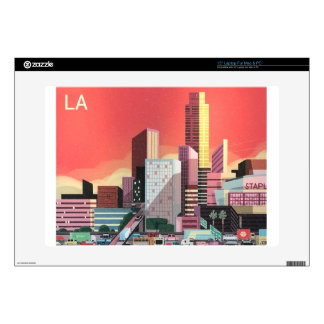 "Los Angeles Vintage Travel Decals For 15"" Laptops"