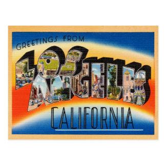 Los Angeles Vintage Travel Postcard Restored