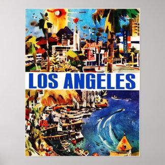 Los Angeles vintage travel poster