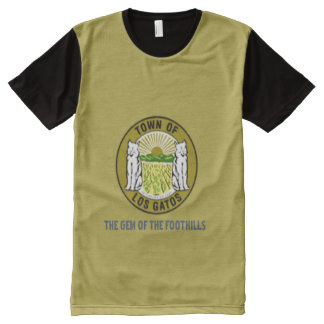 Los Angelese California flag Shirt All-Over Print T-shirt