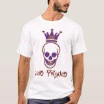 Los Angles 213 Skull Shirt - Purple and Gold