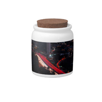 Los Angles Night Skyline Candy Jar