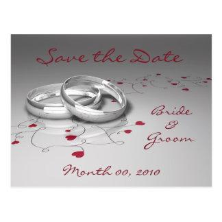 Los anillos de bodas y los corazones ahorran las p