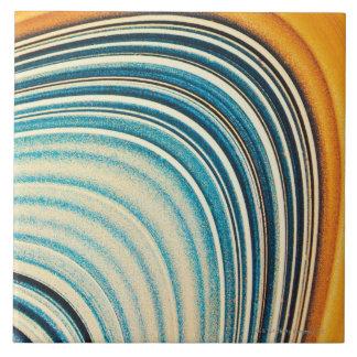 Los anillos de Saturn Azulejo Cuadrado Grande