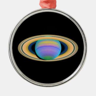 Los anillos de Saturn del planeta en la luz ultrav Adorno De Navidad