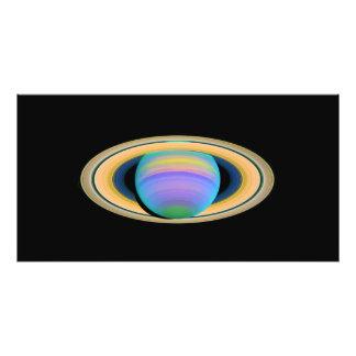 Los anillos de Saturn del planeta en la luz ultrav Fotografías