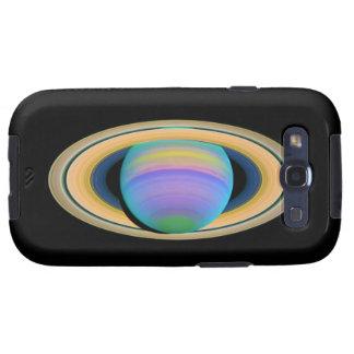 Los anillos de Saturn del planeta en la luz ultrav Galaxy S3 Fundas