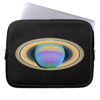 Los anillos de Saturn del planeta en la luz ultrav Manga Portátil