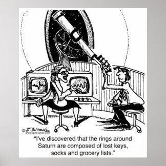 Los anillos de Saturn son calcetines perdidos Poster