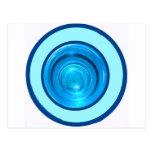 Los anillos/los círculos azules de la parte inferi tarjeta postal