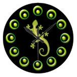 Los anillos y los lagartos de verde lima retros re relojes