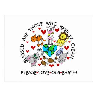Los animales aman nuestra tierra tarjetas postales