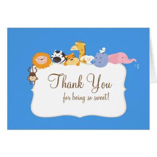 Los animales de la arca de Noah le agradecen tarje Tarjeta Pequeña
