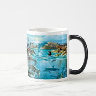 Los animales de las Islas Galápagos Morph la taza