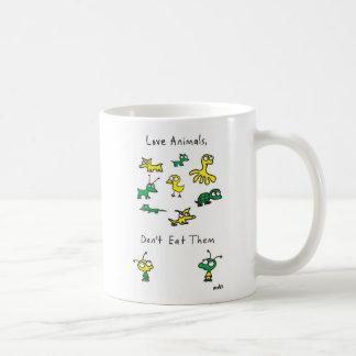 Los animales del amor de Moby, no los comen taza