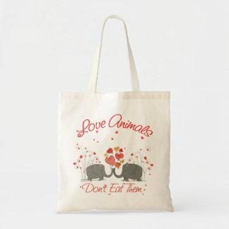 Los animales del amor no los comen bolsa tela barata