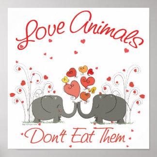 Los animales del amor no los comen póster