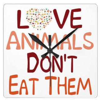 Los animales del amor no los comen reloj cuadrado
