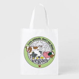 Los animales del amor no los comen vegano bolsa reutilizable