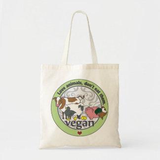 Los animales del amor no los comen vegano bolsa tela barata