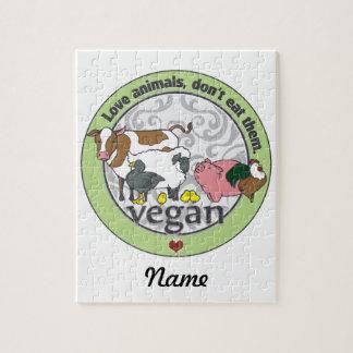 Los animales del amor no los comen vegano rompecabeza