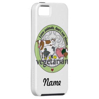 Los animales del amor no los comen vegetarianos iPhone 5 Case-Mate cárcasa