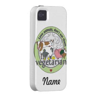 Los animales del amor no los comen vegetarianos vibe iPhone 4 funda