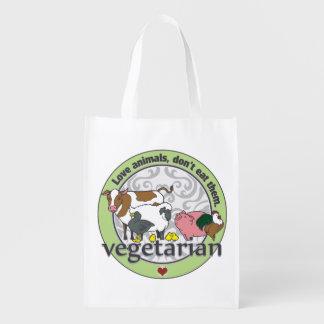 Los animales del amor no los comen vegetarianos bolsas de la compra