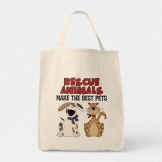 Los animales del rescate hacen los mejores bolsa tela para la compra