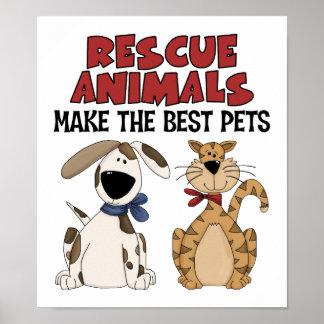 Los animales del rescate hacen los mejores mascota póster