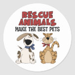 Los animales del rescate hacen los mejores etiquetas redondas