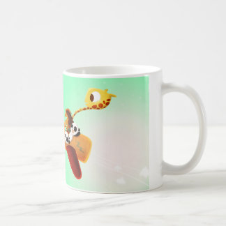 """Los animales en """"medios verdes planos van """" tazas de café"""