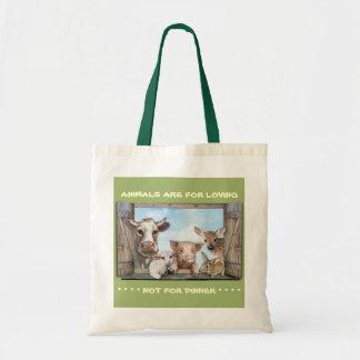Los animales están para amar bolsa tela barata