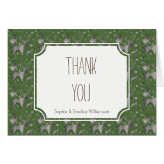 Los animales grises del arbolado le agradecen tarjeta pequeña