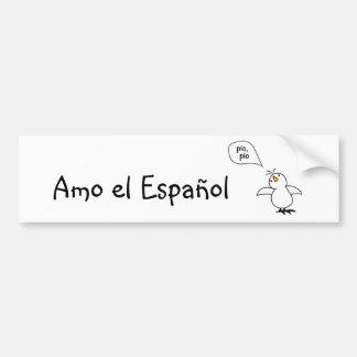 ¡Los animales hablan español también! Mercancía Pegatina Para Auto